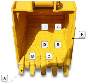 PC450-6型(12318号機)バケット部品